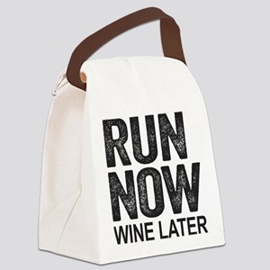 Run Now Wine Later Canvas Lunch Bag