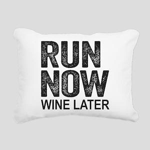 Run Now Wine Later Rectangular Canvas Pillow