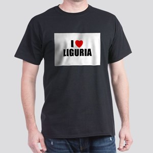 I Love Liguria, Italy  Dark T-Shirt