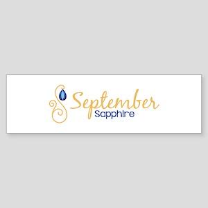 September Sapphire Bumper Sticker