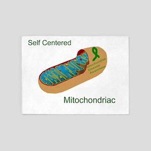 self centered mitochondriac 5'x7'Area Rug