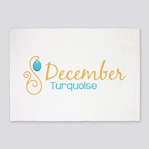 December Turquoise 5'x7'Area Rug