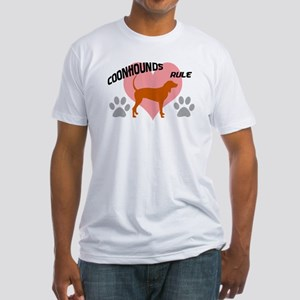 coonhounds rule w/ heart Fitted T-Shirt