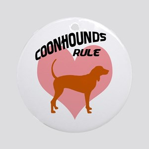 coonhounds rule w/ heart Ornament (Round)