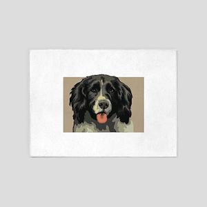 Landseer dog 5'x7'Area Rug