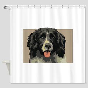 Landseer Dog Shower Curtain