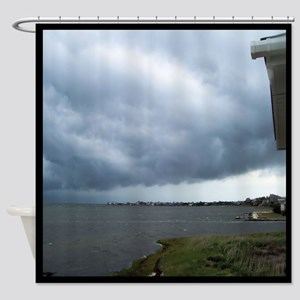Storm Approaching Over Water Shower Curtain