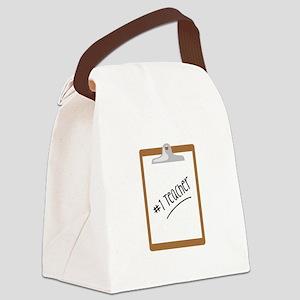 #1 TEACHER Canvas Lunch Bag