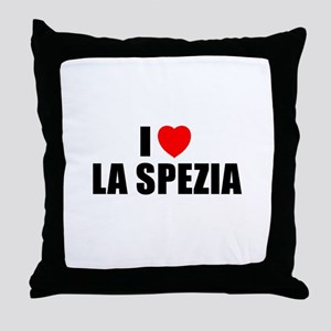 I Love La Spezia, Italy Throw Pillow