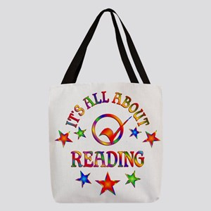 All About Reading Polyester Tote Bag