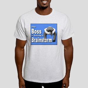 Bad Boss Brainstorm Ash Grey T-Shirt