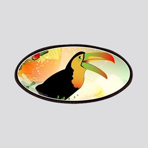 Toucan with flowers Patches