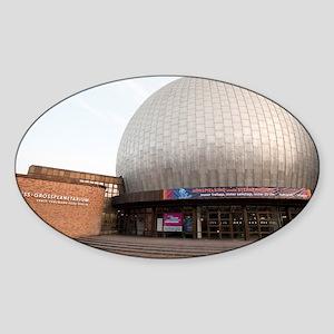 planetarium dome Sticker (Oval)