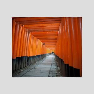 red torii gates Throw Blanket