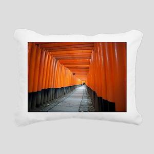 red torii gates Rectangular Canvas Pillow