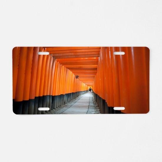 red torii gates Aluminum License Plate
