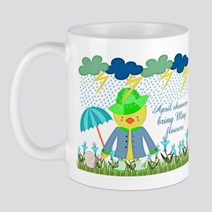 Cute Duck April Showers Bring May Flowe Mug
