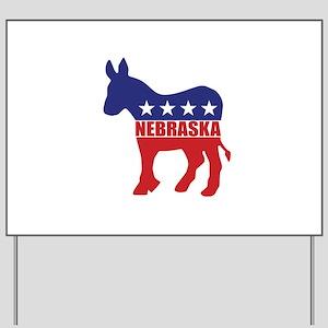 Nebraska Democrat Donkey Yard Sign