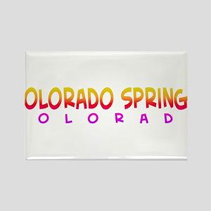 Colorado Springs, CO. Rectangle Magnet