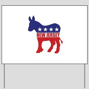 New Jersey Democrat Donkey Yard Sign