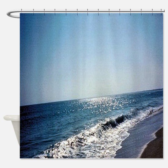Wave Rolling Onto Beach Shower Curtain