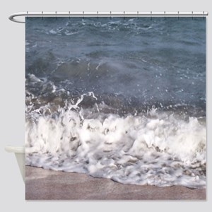 Frothy Wave on Beach Shower Curtain
