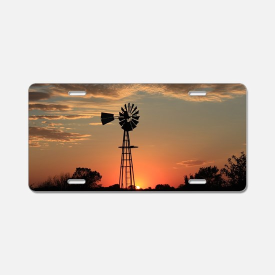 Kansas Country Golden Windm Aluminum License Plate