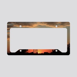Kansas Country Golden Windmil License Plate Holder