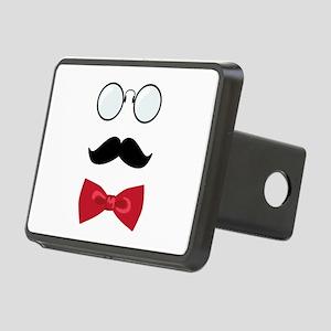 Gentleman Scholar Mustache Bowtie Glasses Rectangu
