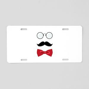 Gentleman Scholar Mustache Bowtie Glasses Aluminum