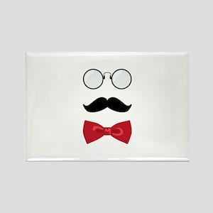 Gentleman Scholar Mustache Bowtie Glasses Magnets