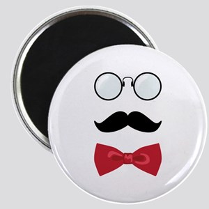 Gentleman Scholar Mustache Bowtie Glasses Magnets