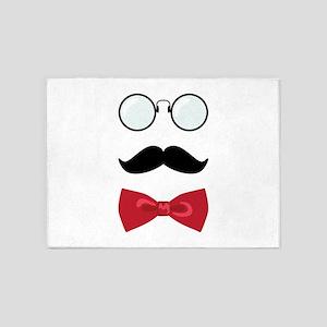 Gentleman Scholar Mustache Bowtie Glasses 5'x7'Are