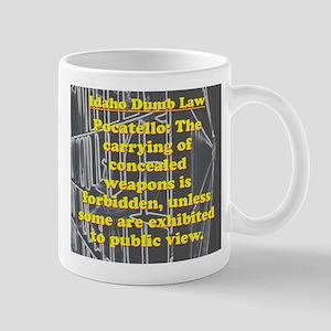 Idaho Dumb Law #8 Mugs