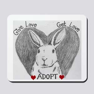 Rabbit Rescue Adoption Mousepad