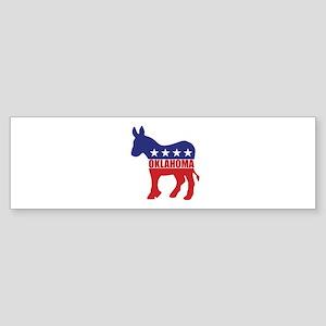 Oklahoma Democrat Donkey Bumper Sticker