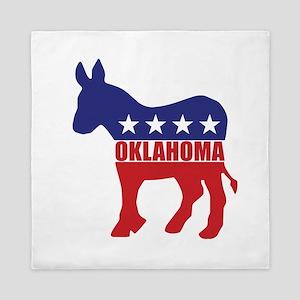 Oklahoma Democrat Donkey Queen Duvet