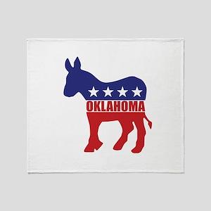 Oklahoma Democrat Donkey Throw Blanket