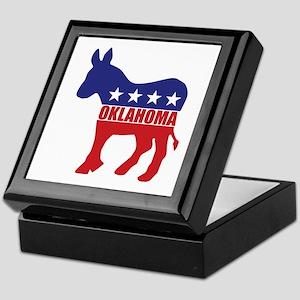 Oklahoma Democrat Donkey Keepsake Box