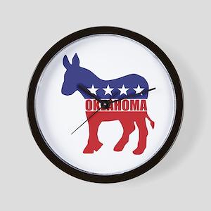 Oklahoma Democrat Donkey Wall Clock