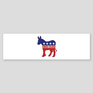 Rhode Island Democrat Donkey Bumper Sticker