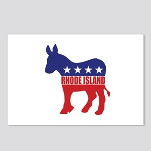 Rhode Island Democrat Donkey Postcards (Package of