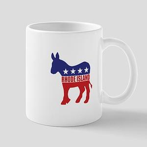Rhode Island Democrat Donkey Mugs