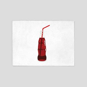 Soda Pop Drink Glass Straw 5'x7'Area Rug