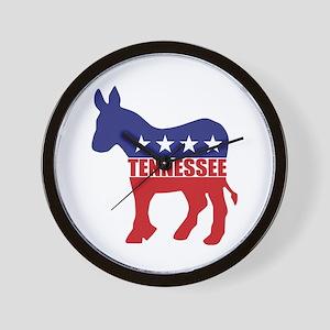 Tennessee Democrat Donkey Wall Clock