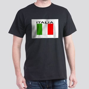 Italia Flag II Dark T-Shirt