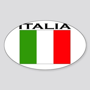 Italia Flag II Oval Sticker