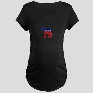 Virginia Democrat Donkey Maternity T-Shirt