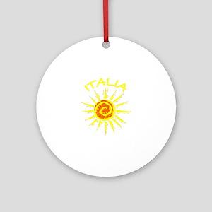 Italia Sun (Dark) Ornament (Round)