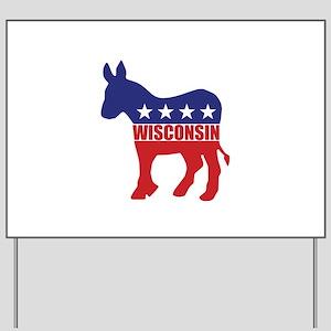 Wisconsin Democrat Donkey Yard Sign
